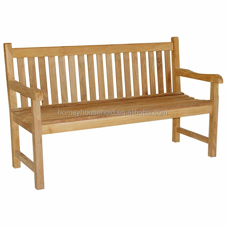 Solid teak garden furniture wood bench chair seat