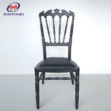 Black antique color fire back hole plastic injection machines dining chair