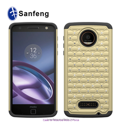 Hybrid Diamond Phone Case Wholesale for Moto Z Force Release in 2016 September