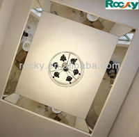 beveled edge silver mirror tile for ceiling