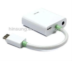 High quality HDMI to VGA adapter cable with audio