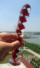 Penis shape sex glass dildo products toys for women GFG-080