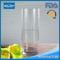 wholesale clear cylinder glass vase tall human blowing wedding centerpiece