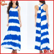 2015 New arrival ocean breeze tye dye summer dress/print beach dress