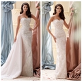 the latest model lace vintage backless a-line wedding dress