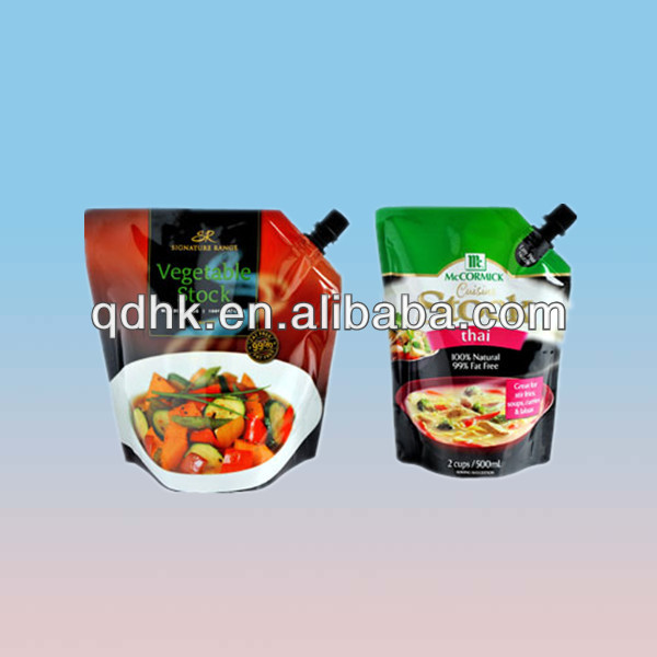 Good quality custom printed laminated food vegetable spout packaging bag