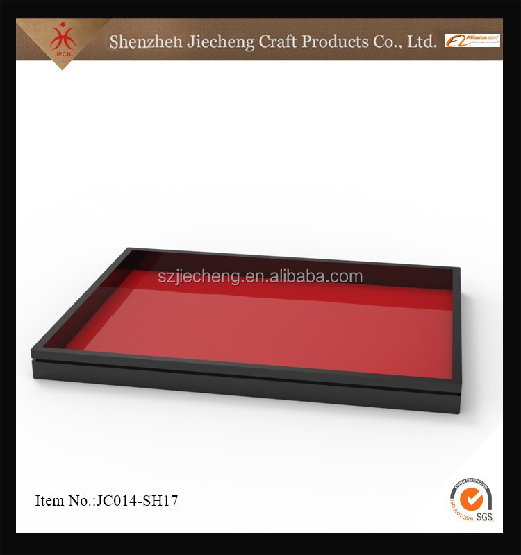 European style new design customized acrylic wood serving tray