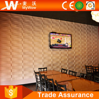Restaurant Decoration PVC Wall Panel 3D Wall Decor