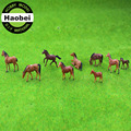 Plastic model horse type scale model building materials