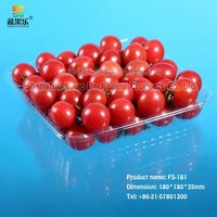 high quality disposable plastic PET blister fruit and vegetable packaging tray FS-181