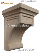 hot sale hand carved wood wall decor for architectural corbels (EFS-YCY-081)