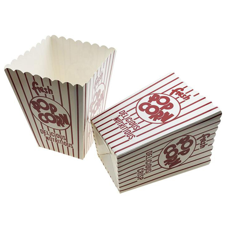 Custom printed popcorn paper box with logo