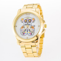 Best quality exported chinese stainless steel 22k gold watch