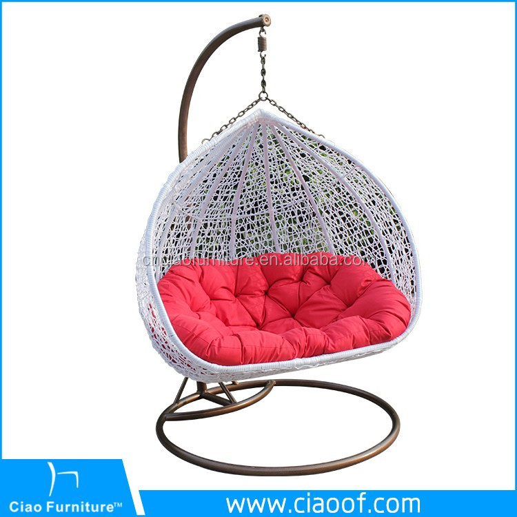 New Design Round Wicker Double Seats Adult Swing Chair