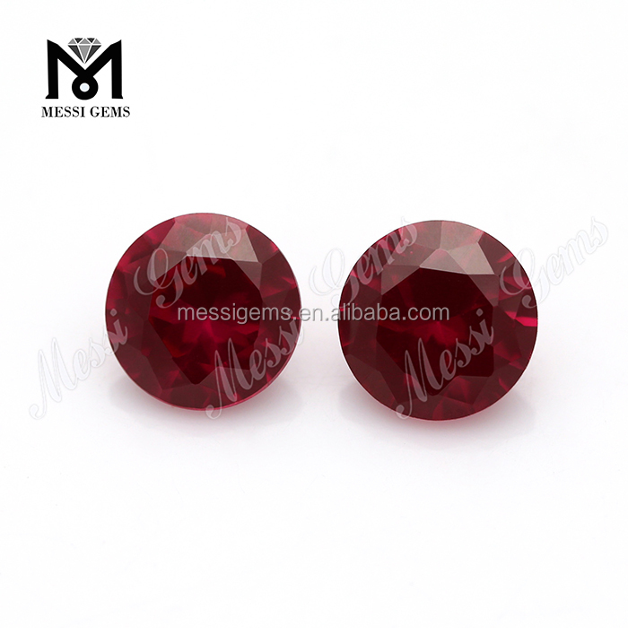 1 carat Round 6.0 mm Created Ruby