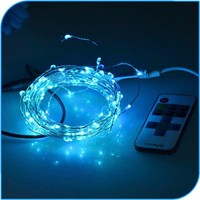 2015 New Product Remote Controlled Copper Flashing Wire Micro Led Copper Wire String Lights
