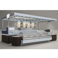 Attractive commercial kiosk fast food shop design
