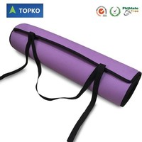 TOPKO China Factory Supply Carrying strap Camping Exercise Lightweight eva yoga Mat
