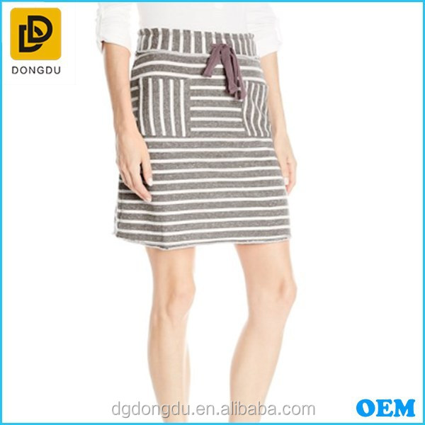 2015 Women's Raw Edged Stripe Skirt