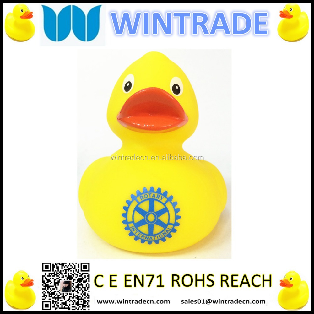 8CM YELLOW RUBBER DUCK WITH LOGO
