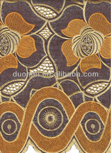 P2217 african big flower embroidery printed mix fabric hollandis cotton plain fabric