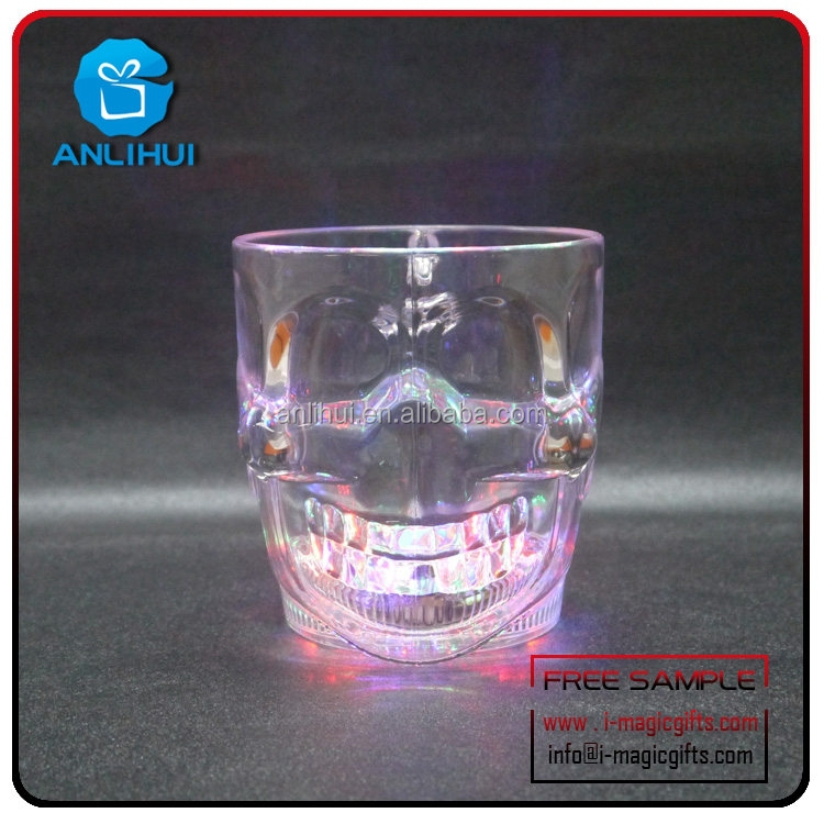 Wedding Decorations Led light Champagne acrylic Cup Manufacturers