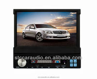 STC-7501 retrachable car dvd player with steering wheel