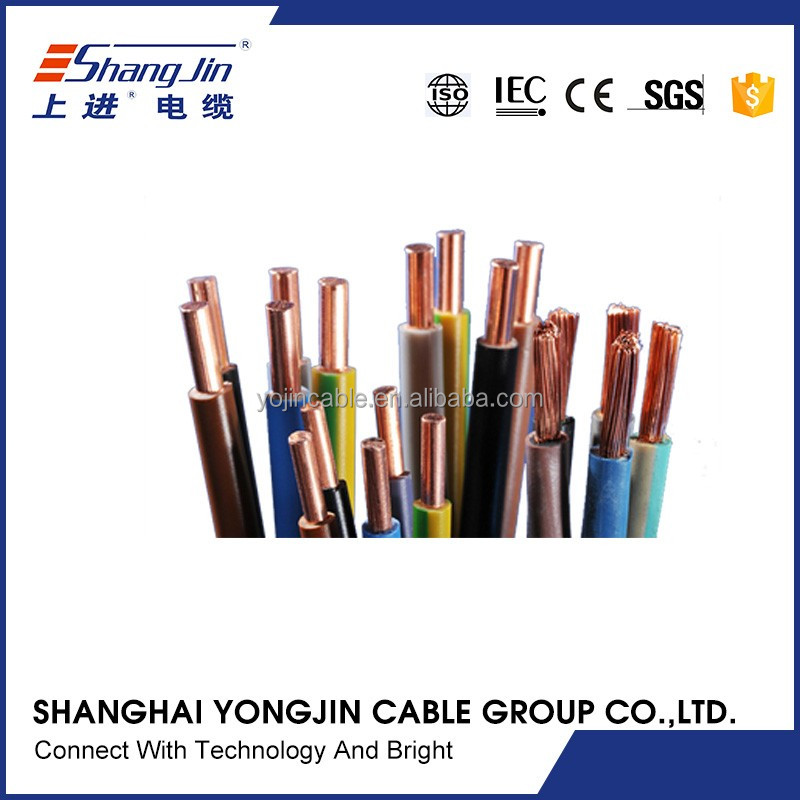Copper Conductor PVC Insulation BV/TW/THW/H07V-K/BYA Electrical Wire Cable