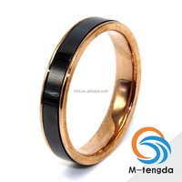 Factory Custom Stainless Steel Base with Polished Ceramic Center Band Ceramic Inlay Tungsten Ring