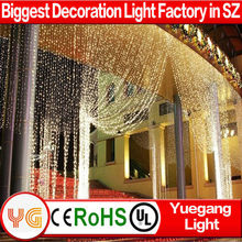 high quality chrismas led light star stage curtain Xmas star drop curtain light
