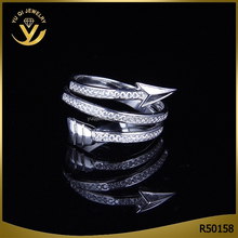 2016 Fashion Arrow Ring 925 Sterling Silver Finger Ring For Female Adjustable Ring