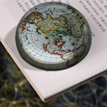 cheap creative European and American map semicircle crystal glass paperweight