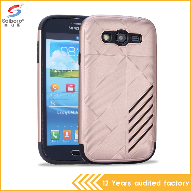 2 in 1 tpu+pc gold color shockproof hard pc back Cover Case for Samsung Galaxy Grand Duos i9080 i9082