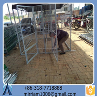 Fashionable comfortable powder coating beautiful high quality wrought iron galvanized outdoor dog cage/kennel