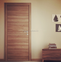 Black Walnut Veneered Solid Core Flush Doors Wooden Design