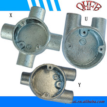 Galvanized malleable iron X/Y/H conduit box
