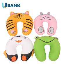 Cute Animal Design Kid Microbeads Traveling Neck Roll Pillow