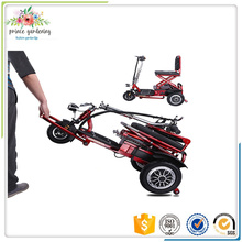 Fortable three wheel scooter for elderly people folding tricycle 12AH lithium Battery disabled scooter