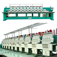 10 Heads Flatbed Embroidery Machine With 9 Needles , Servo Motor