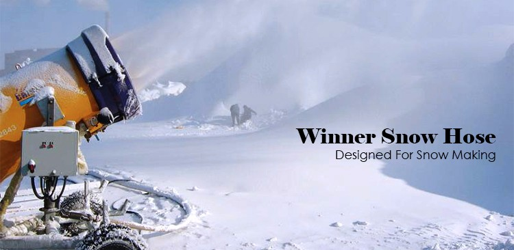 designed for demanding environments durable double jacket snow making hose
