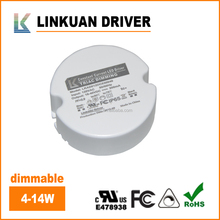 UL Listing constant current pfc led power supply round shape 12w 350ma led driver