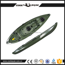 Plastic light sit on top no inflatable canoe wholesale small boat for kid fishing kayak