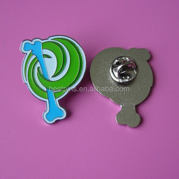 Silver Sublimation Customized Design Metal Logo Label Pin for Garment