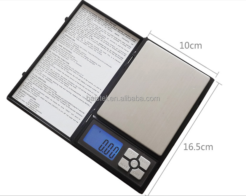 500g/0.01g 2kg/0.1g High Precision Electronic Pocket Digital Jewelry Scale