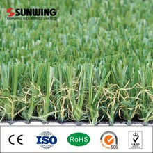 plastic artificial grass with flower for balcony landscaping