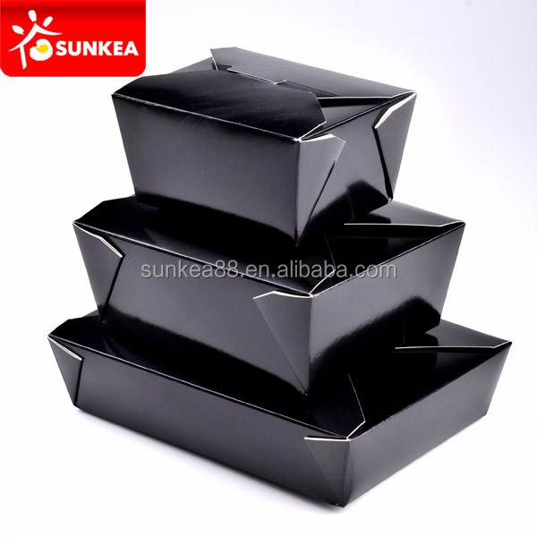 Disposable biodegradable paper food deli delivery container