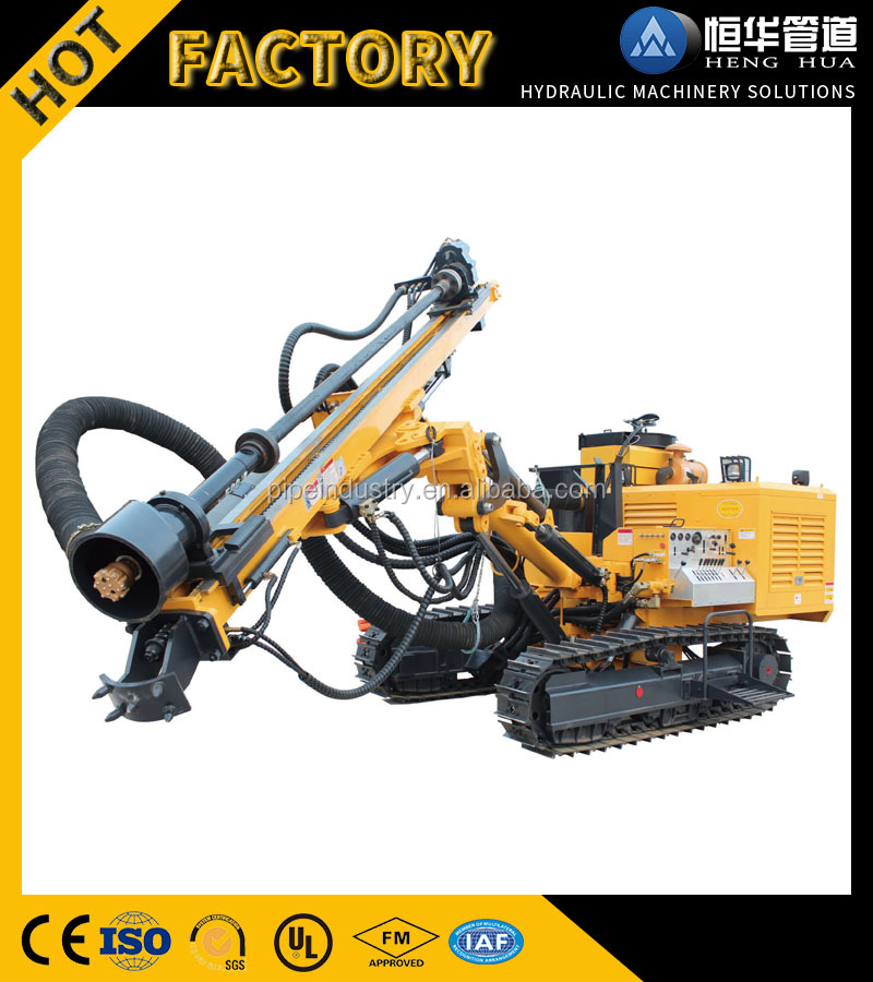 Factory sale 82kw Blast Rock Hole Crawler Drilling Rig