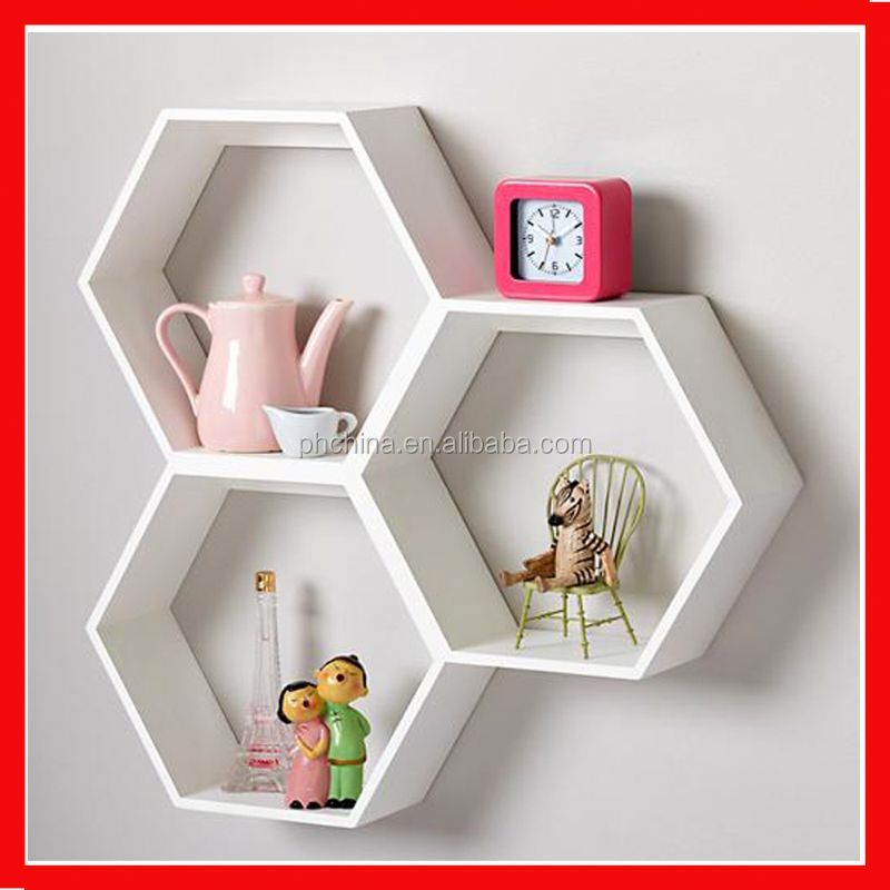 plexiglass/acrylic/lucite wall mounted flower pot shelf milky white