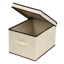 Folding Cardboard Cheap Storage Boxes Fabric Storage Cubes With Lids