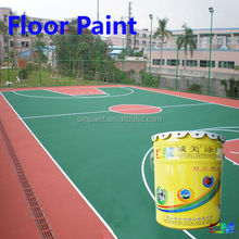 Paint supplier- Waterproof all weather outdoor tennis court polyurethane floor coating finish